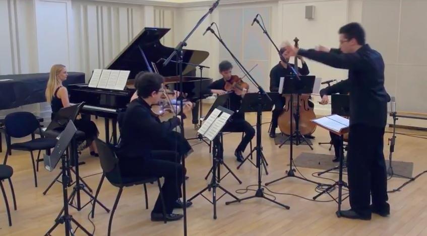 W.M.Bauer: Konzert für Klavier und Streichorchester (I.), Ansámbel Asynchrónie